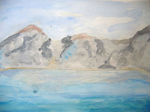 Antarctica from the Icebreaker  – Watercolour on paper