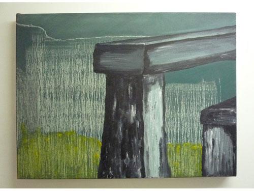 Stonehenge 1 - Oil on Canvas