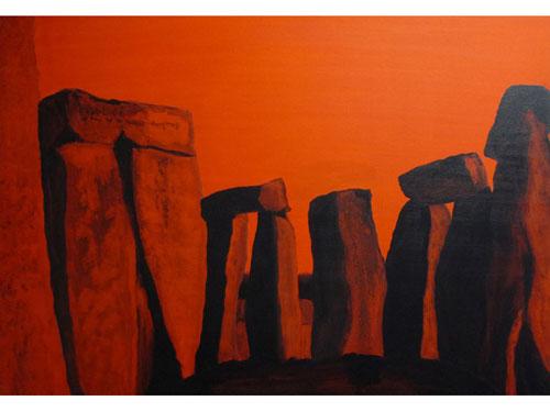 Stonehenge 3 - Oil on Canvas