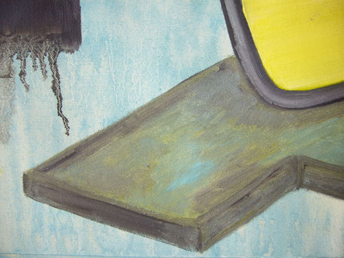 Street Furniture 4 - Oil on canvas