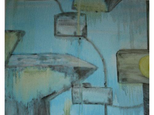 Street Furniture 3 - Oil on canvas