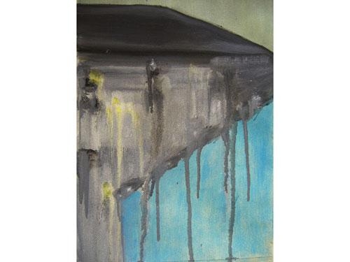 Street Furniture 2 - Oil on canvas