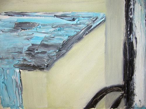 Street Furniture 1 - Oil on canvas