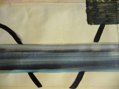 Street Furniture 5 - Oil on canvas