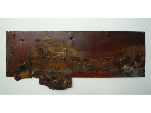 Stalingrad - Oil and mixed media on rusted steel