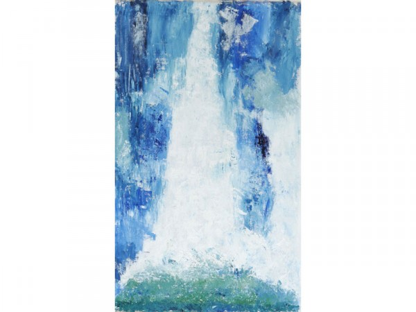 Antarctic Waterfall - oil on canvas - 60cm x 120cm - November 2011