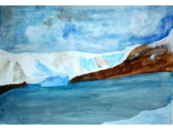 Antarctica 2 - watercolour on paper - 30cm x 20cm - December 2011