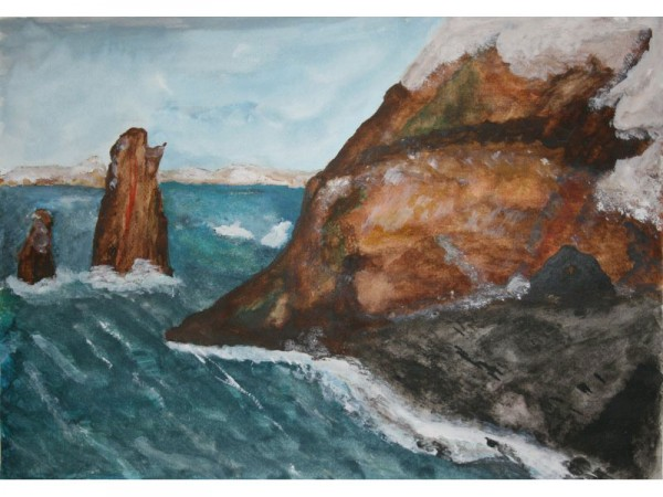 Antarctica 5 - watercolour on paper - 30cm x 20cm - December 2011