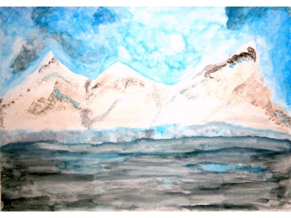 Antarctica 4 - watercolour on paper - 30cm x 20cm - December 2011