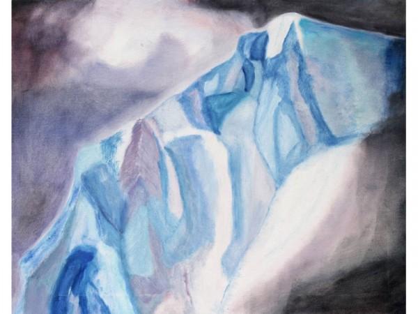 Icecliff 2 - oil on canvas - 60cm x 40cm - January 2012