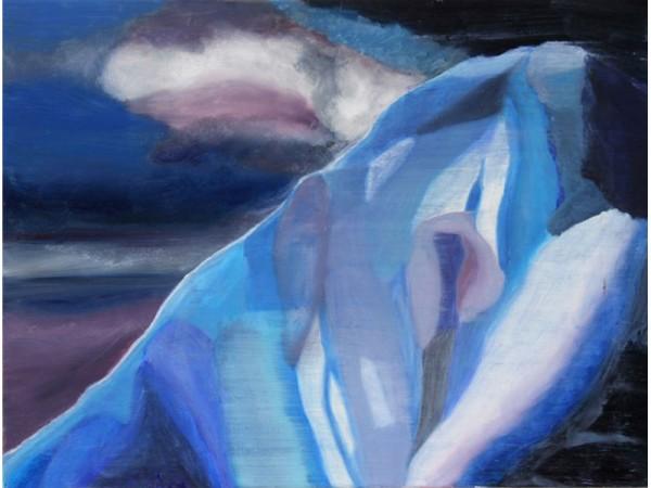 Icecliff 1 - oil on canvas - 60cm x 40cm - January 2012