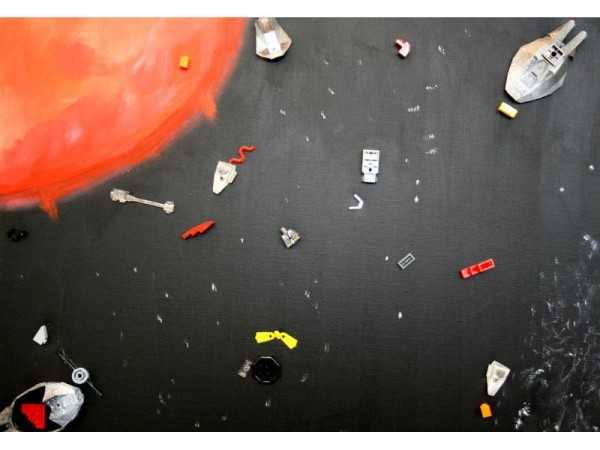 Space Debris (Mars) - oil, lego parts, pva, on canvas - 50cm x 35cm - February 2012