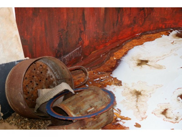 Interim Show: Human Remains - Close up of installation - Feb 2012
