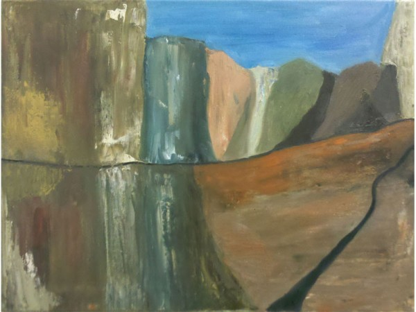 Canyon Road - oil on canvas - 50cm x 35cm - March 2012