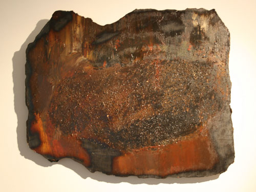 Erosion - Acrylic, mixed media and collage on hardboard - June 2012 - 49cm x 60 cm