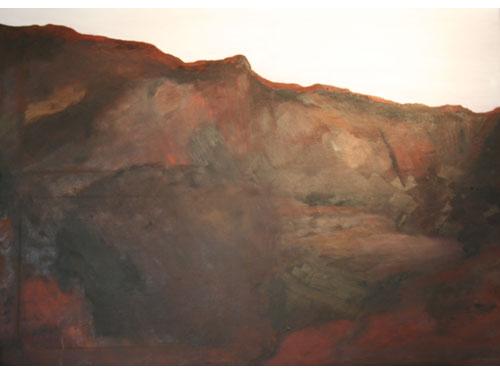 Mars Landscape Courtesy Curiosity - 120cm x 85cm - Oil on canvas