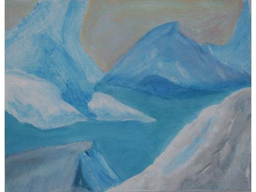 Melting Ice Cap - Oil on Canvas - 35 x 45 cm