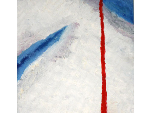 Crying Blood in Antarctica - Oil on Canvas - 30 x 30 cm
