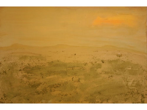 Italy: A Desert? - Oil on Canvas and sand - 60 x 90 cm