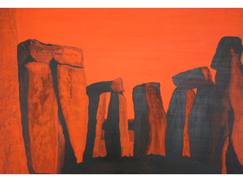 Stonehenge Series: Will I Be Here in 5000 years - Oil on Canvas - 70 x 100 cm