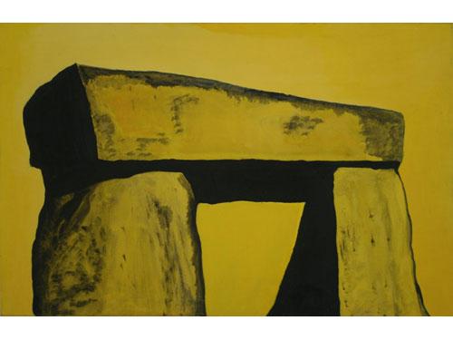 Stonehenge Series: Defying Erosion: Until Now? - Oil on Canvas - 70 x 100 cm