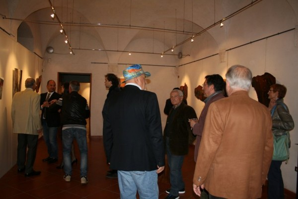 Visitors at opening night