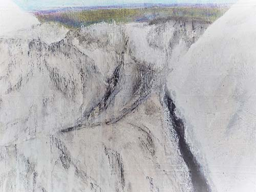 I climbed this glacier in Iceland: Mixed dry media on board