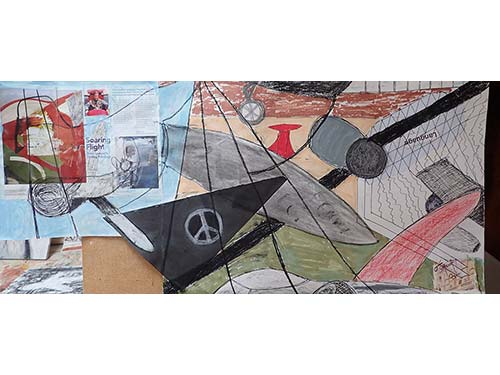 Planes: Peter Lanyon and Science Museum......mixed media and collage on paper