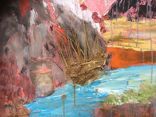 Identity: oil and mixed media on canvas (detail)